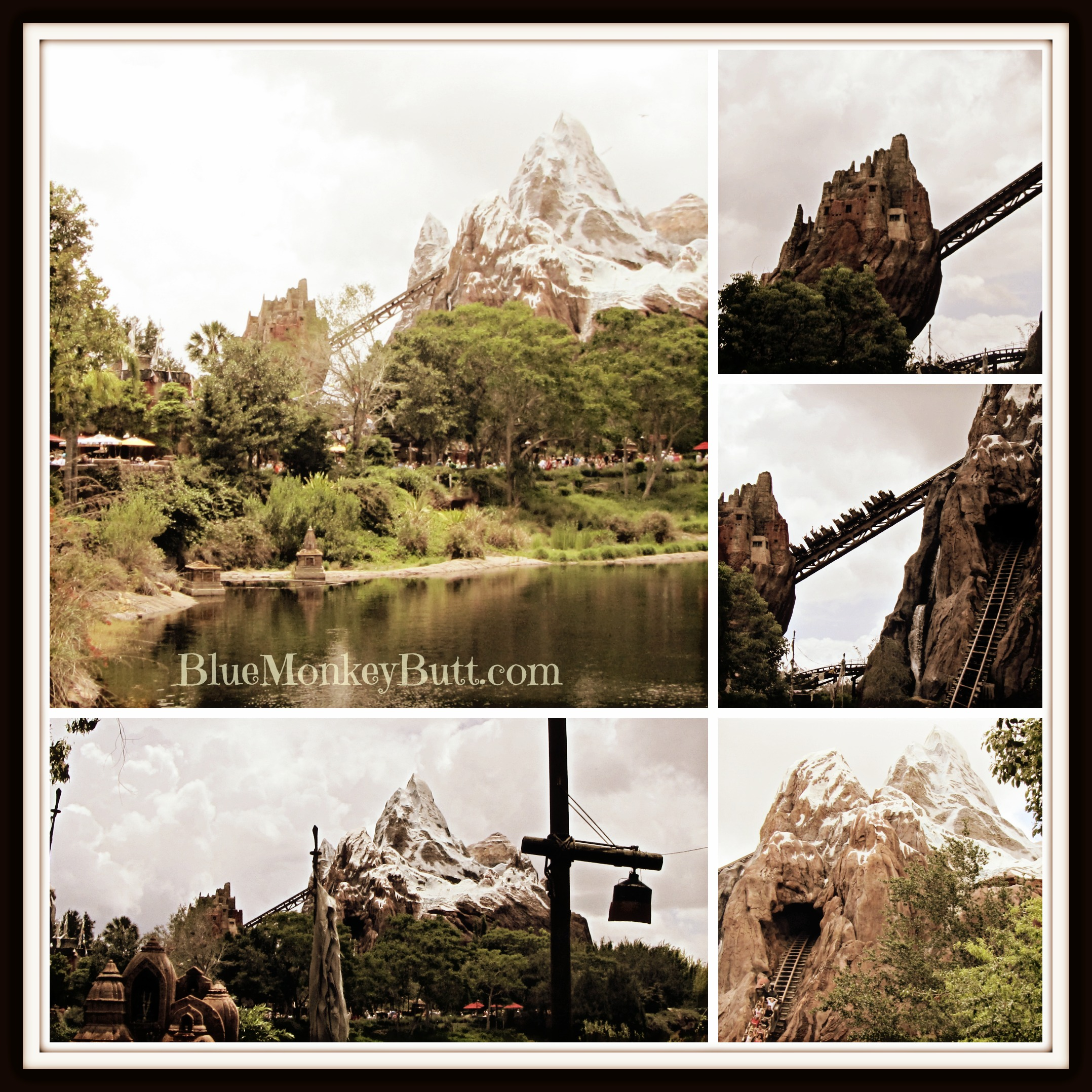 Collage of Expedition Everest
