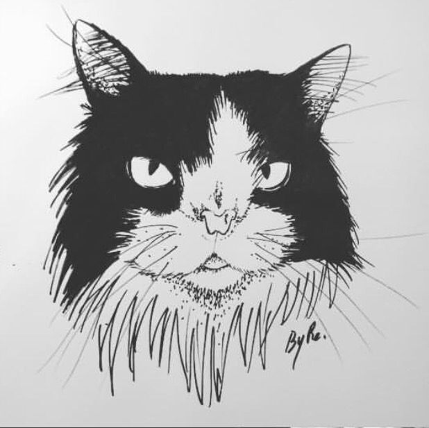 Artist rendering of snuffy - Draw me like one of your French cats