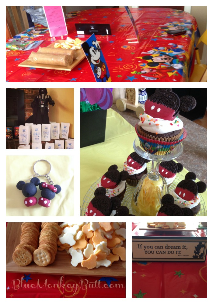 Collage of photos from our Disney Side Party