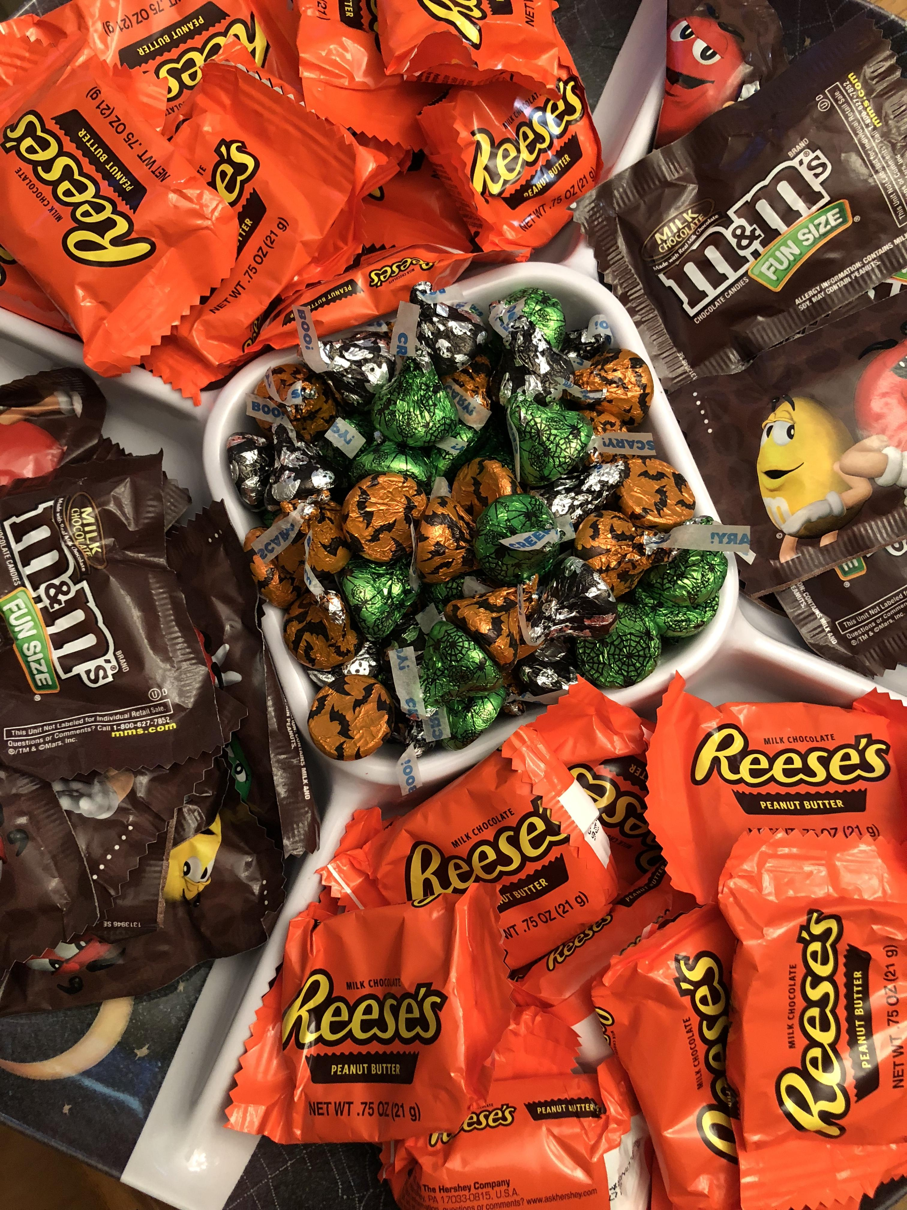 Bowl of Halloween candy