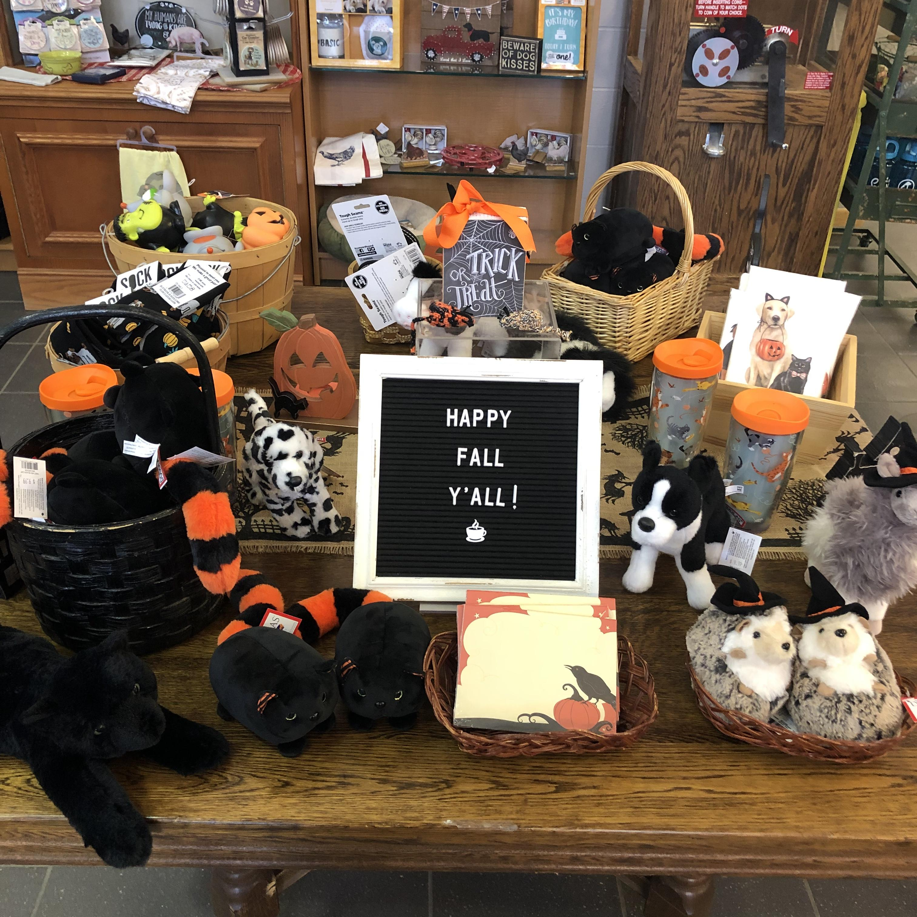 Halloween toys and misc retail gift items