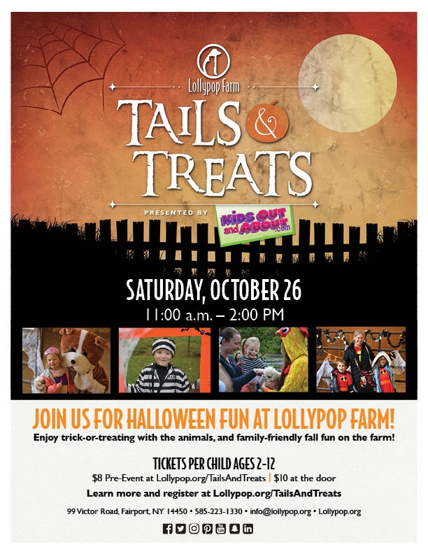 Tails & Treats event at Lollypop Farm 10/26/2019